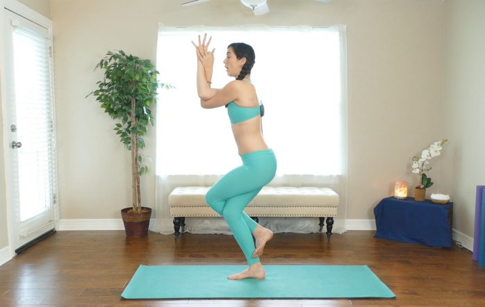 Balance plays a huge role in yoga, whether you